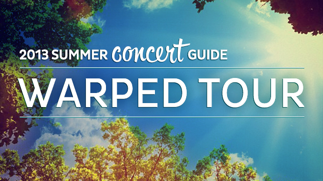 2013 Summer Concert Guide Warped Tour