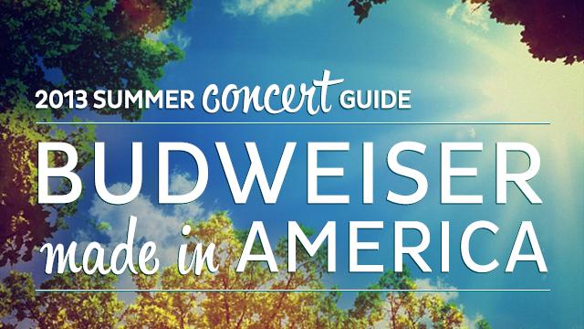 2013 Summer Concert Guide: Budweiser Made in America Festival