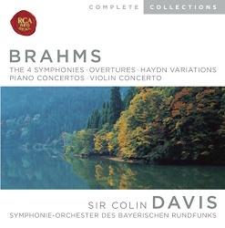 Colin Davis - Brahms: The 4 Symphonies; Overtures; Haydn Variations; Piano Concertos; Violin Concerto [Box Set]