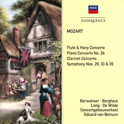Mozart: Flute & Harp Concerto; Piano Concerto No. 24; Clarinet Concerto; Symphony Nos. 29, 33 & 35