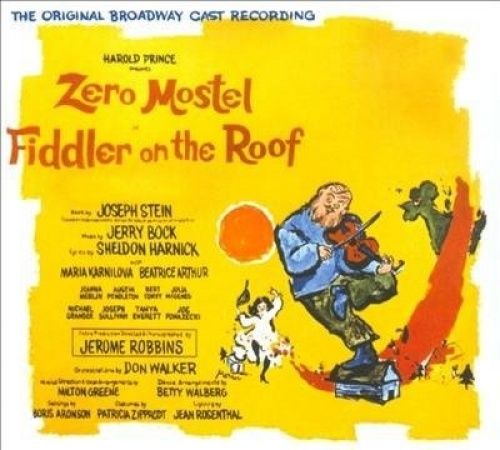 Fiddler On The Roof Original Broadway Cast Recording Zero Mostel