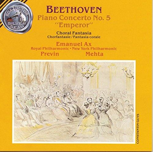 """Beethoven: Piano Concerto No. 5 """"Emperor""""; Choral Fantasia [11 tracks]"""